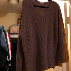 Mocha oversized sweater
